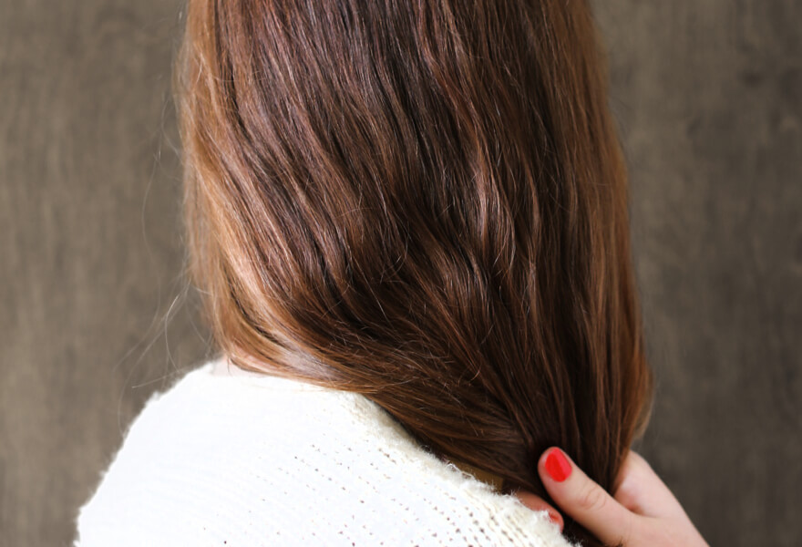Natural brown hair color