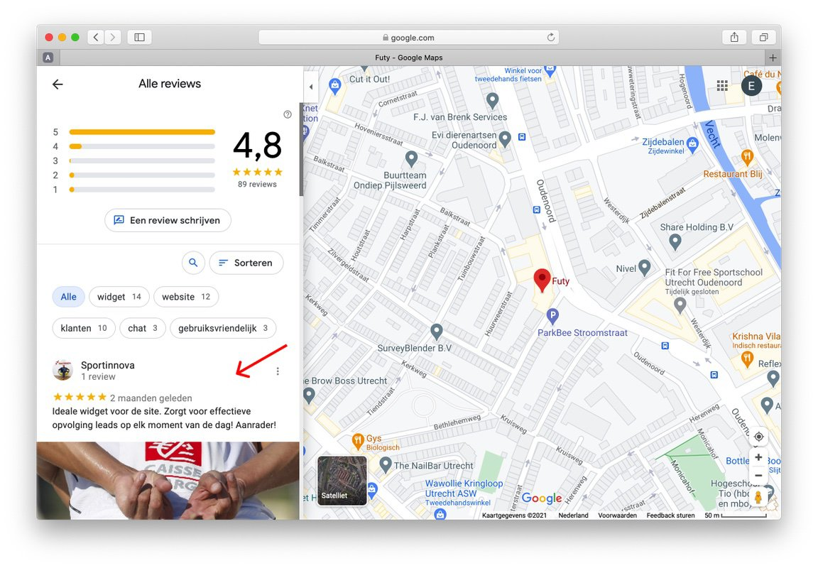 google review link maken stap 6