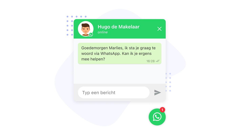 whatsapp chat widget website