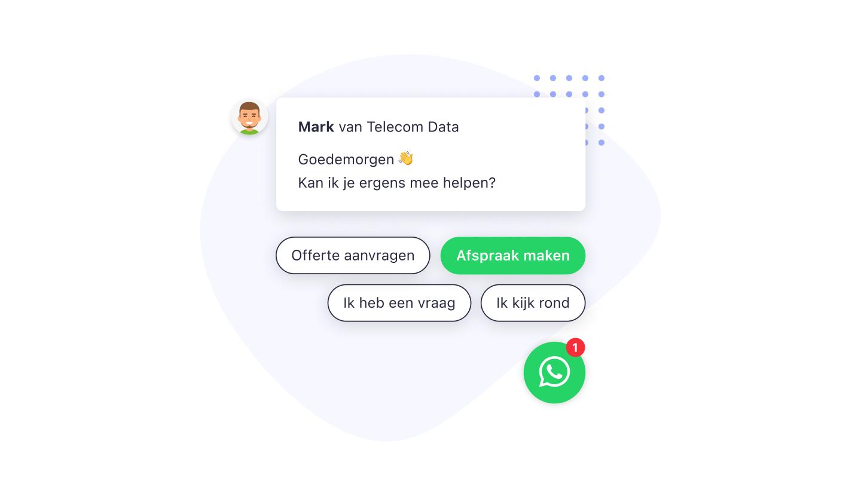 whatsapp leadbot afspraak calendly