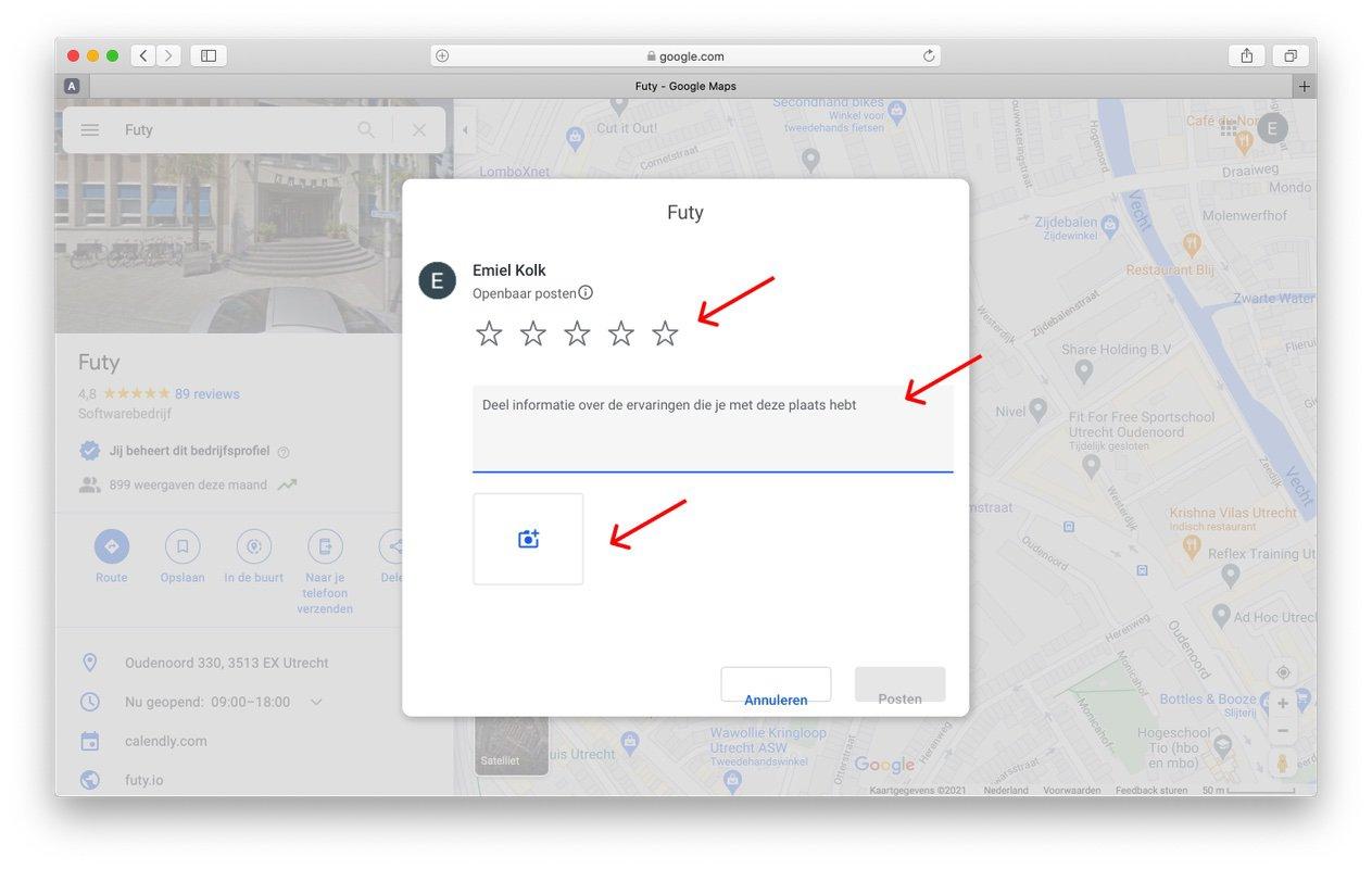 google review link maken stap 5