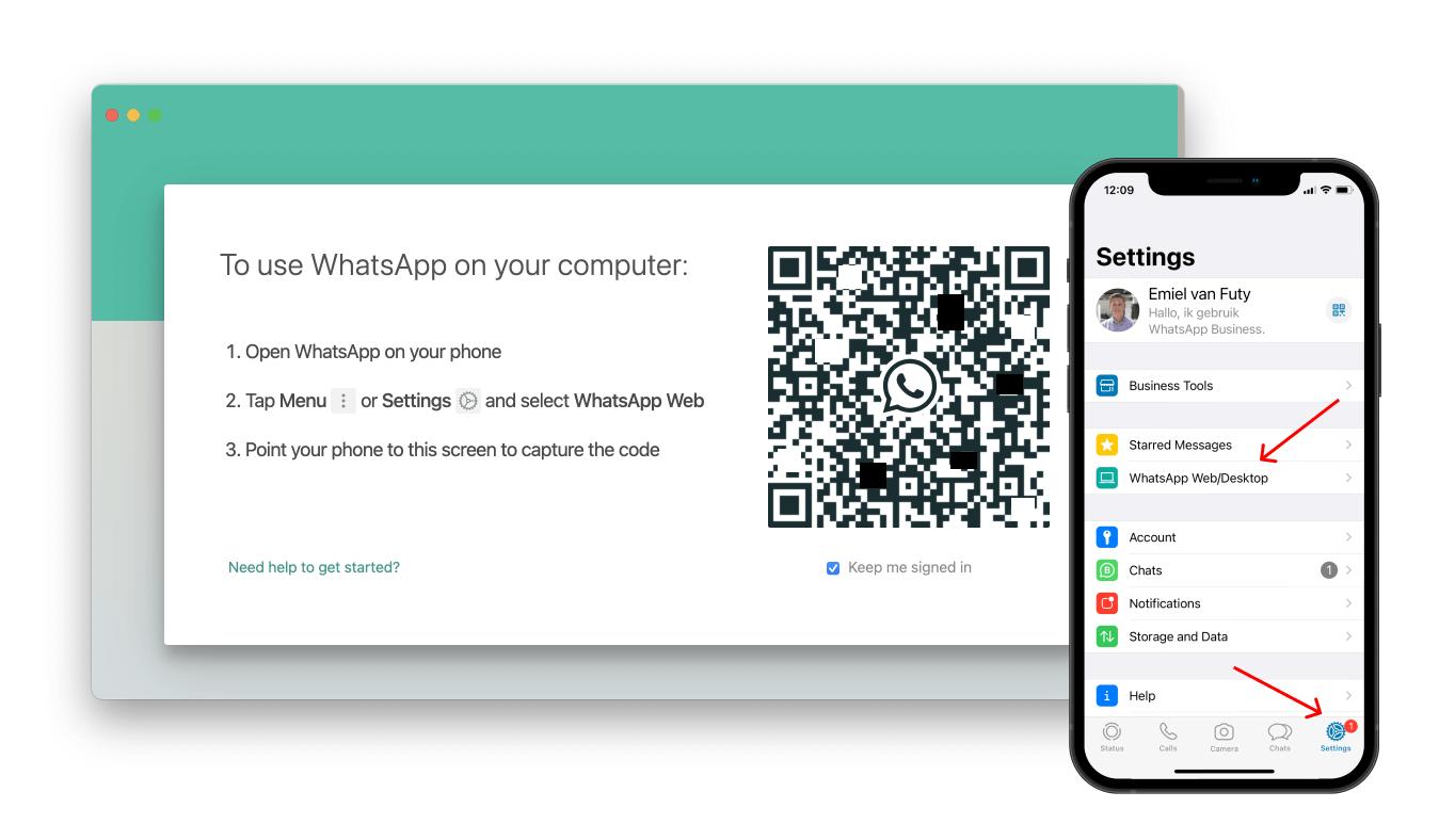 whatsapp business desktop app qr