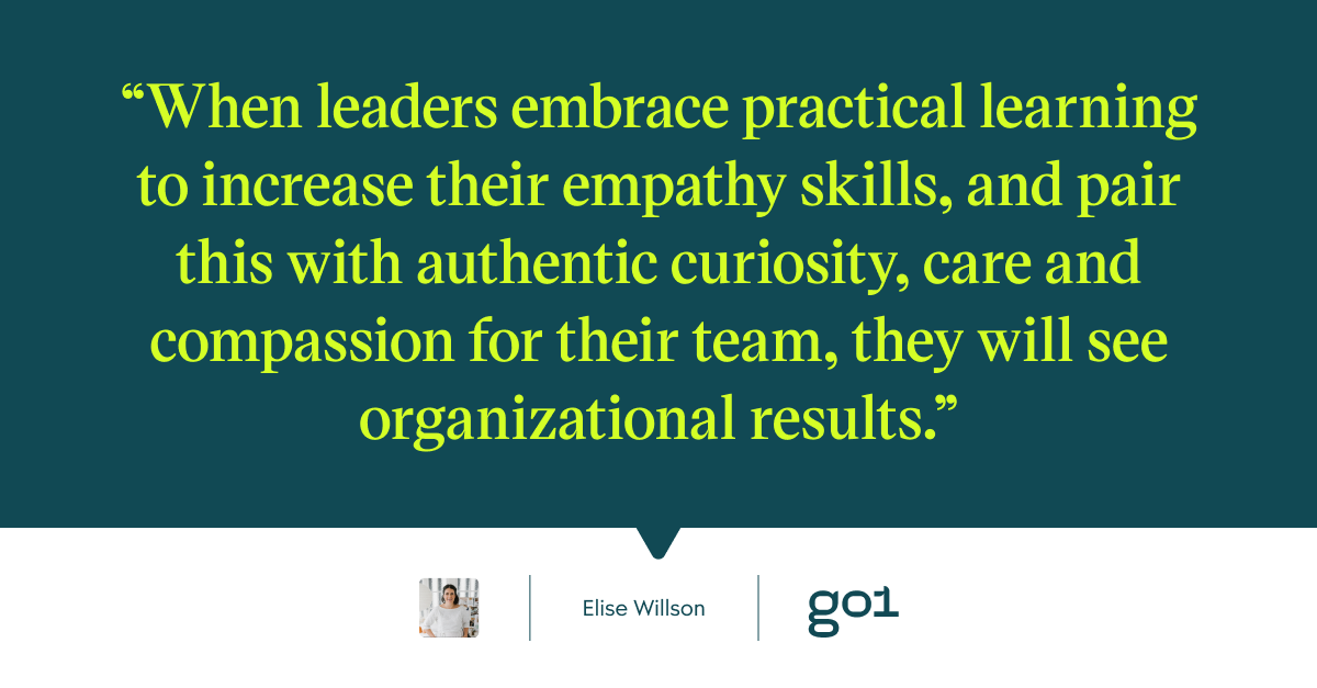 Quote graphic on embracing empathetic leadership