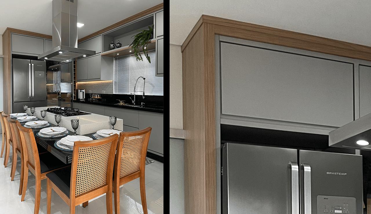 cozinha cinza sob medida
