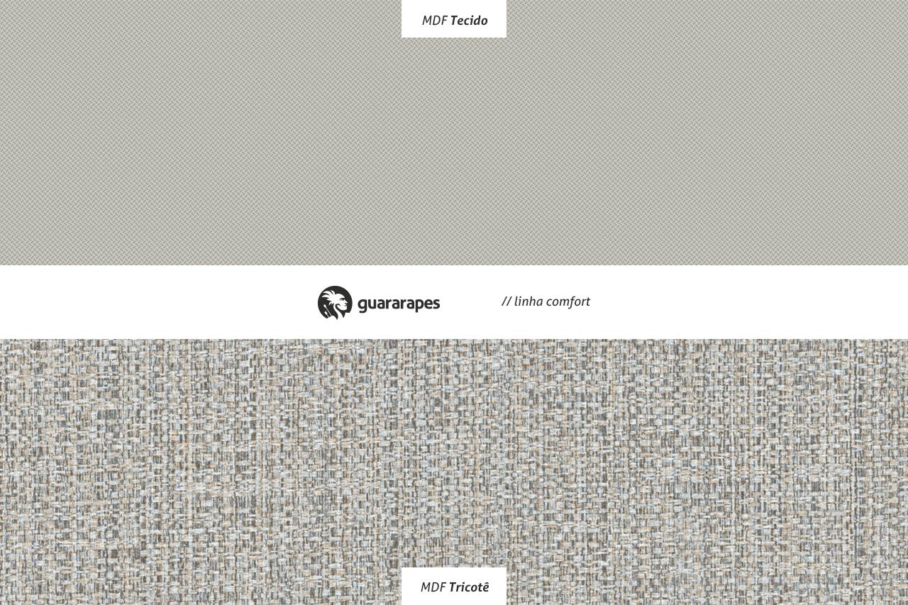 MDF Tecido e MDF Tricotê - Lançamentos de MDF da Linha Comfort Guararapes