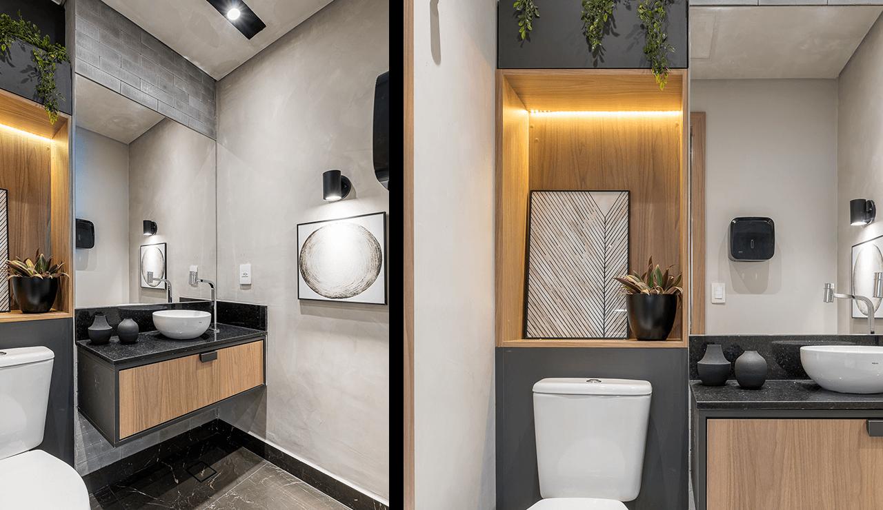 lavabo com madeira