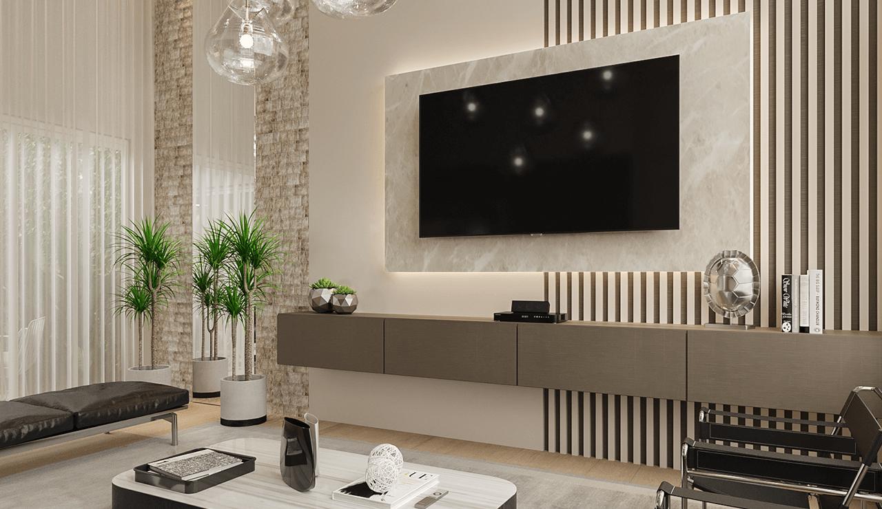 painel de TV elegante