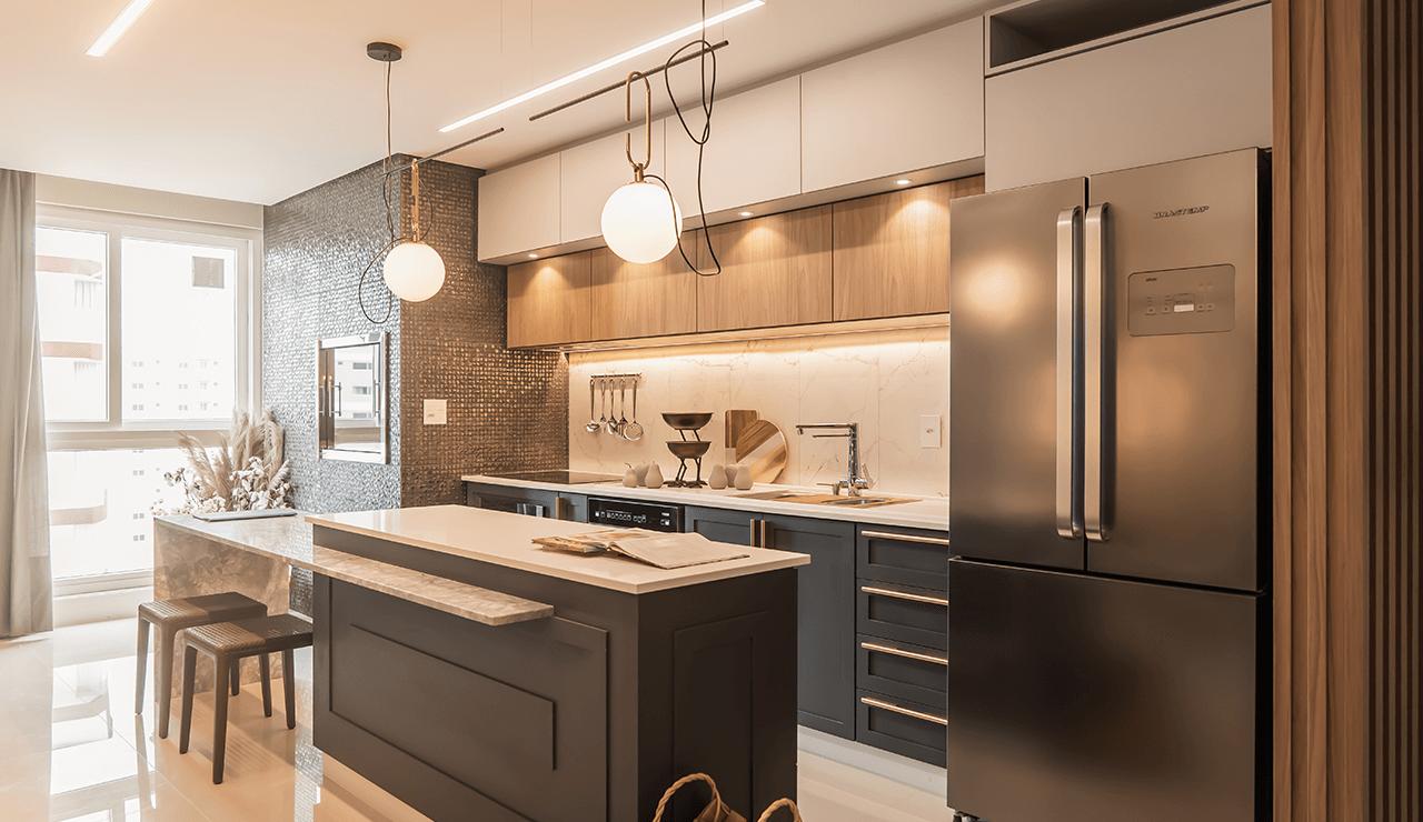cozinha cinza elegante