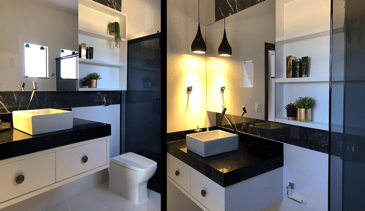 banheiro branco elegante