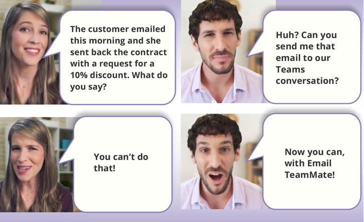 Share emails in Teams conversations