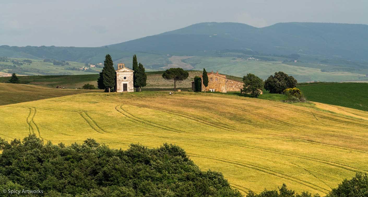 Toskana Reisebericht Felder