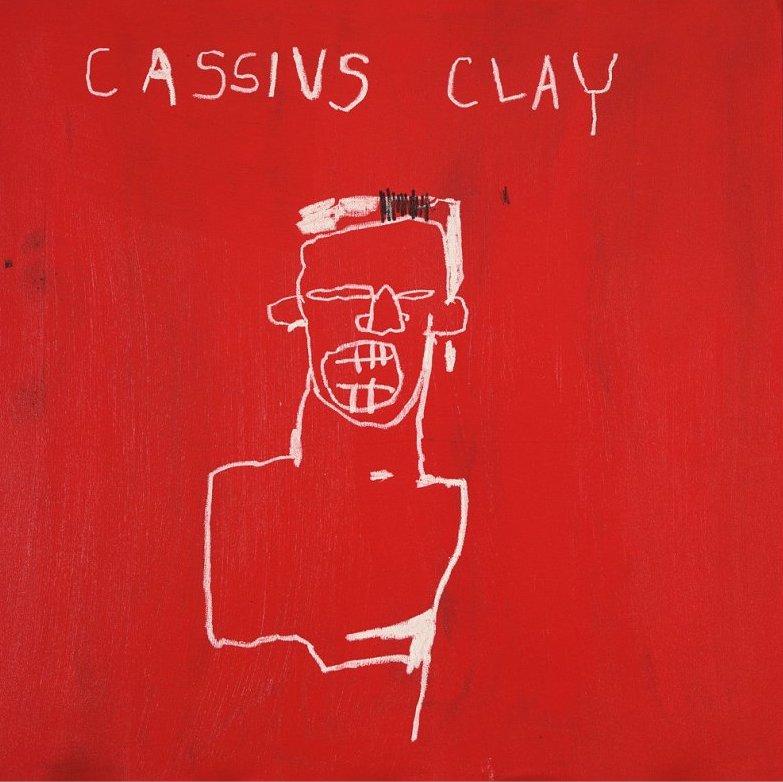 Cassius Clay, 1982, by Jean-Michel Basquiat