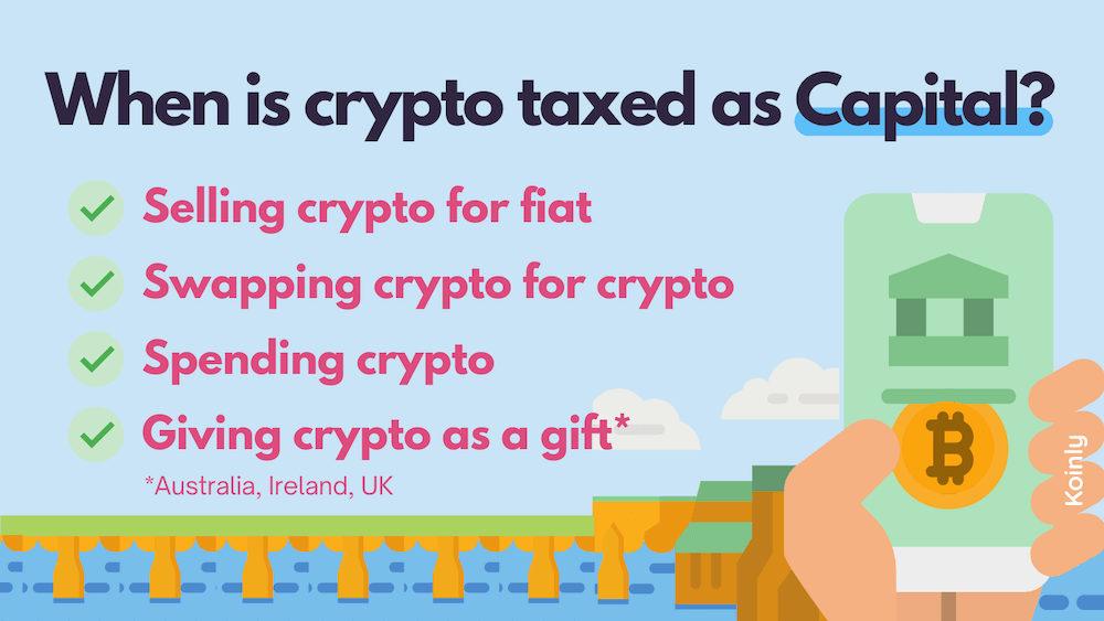 Koinly explains when crypto is taxed as capital gains