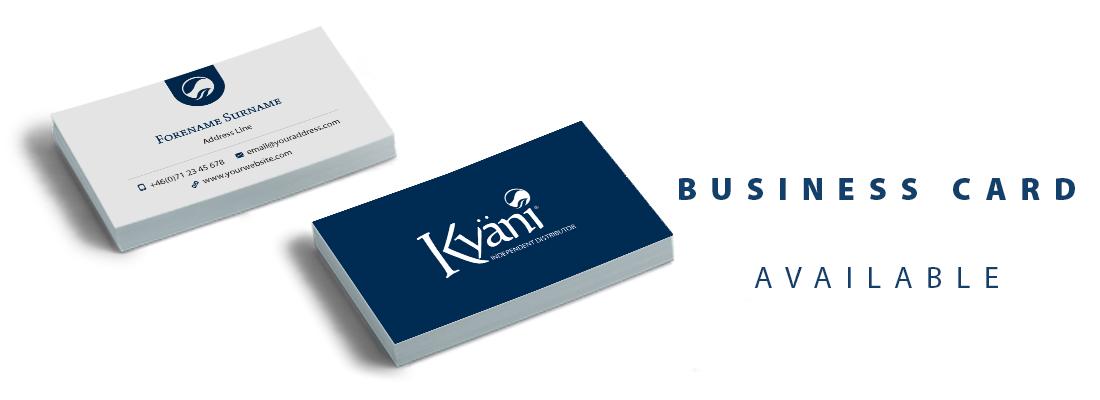 Accedez Au Field Kit Dans Votre BackOffice Et Decouvrez Les Exemples Des Cartes De Visite Kyani Vous Y Trouverez Un Document PDF Avec