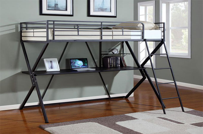 le lit mezzanine m tallique quels avantages. Black Bedroom Furniture Sets. Home Design Ideas