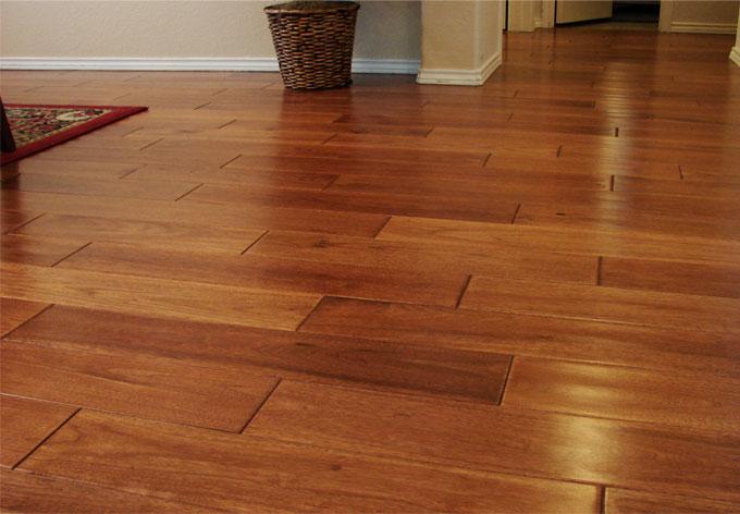 Revêtement de sol en bois.
