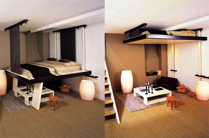 mezzanine escamotable avantages et inconv nients. Black Bedroom Furniture Sets. Home Design Ideas