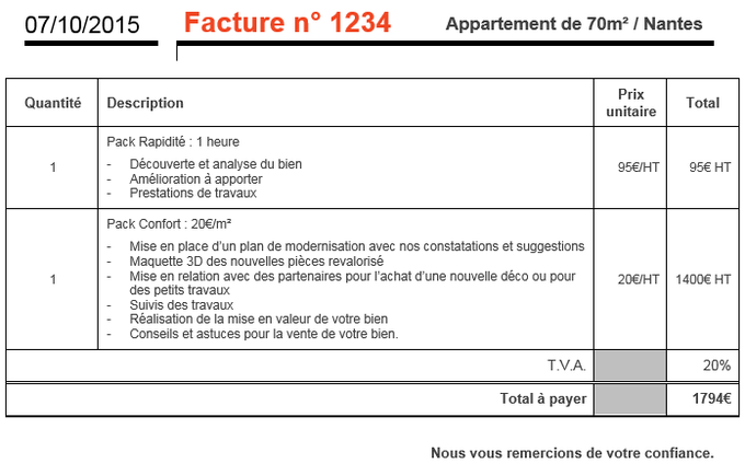Exemple devis travaux maison tableau crois du document for Assurance travaux maison