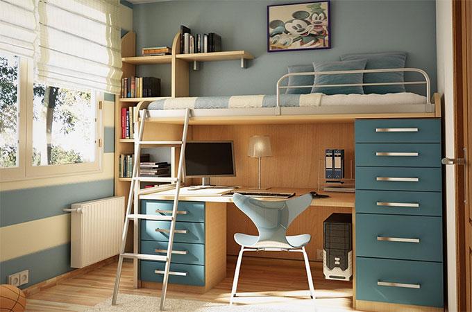 Tout connaitre sur le lit mezzanine avec bureau