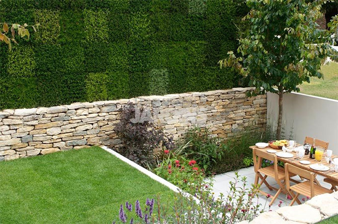 L 39 habillage d 39 un muret de jardin for Decoration jardin mur