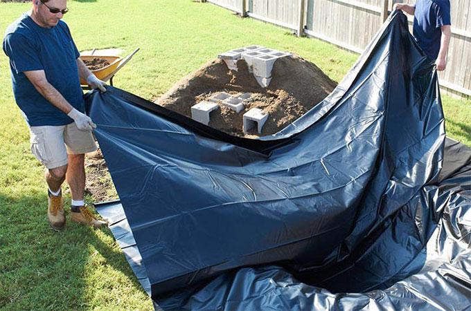 Tout savoir propos du bassin b che pour le jardin for Bache pour bassin de jardin