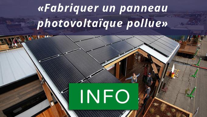 panneaux solaires photovolta ques sont ils si ecologiques. Black Bedroom Furniture Sets. Home Design Ideas