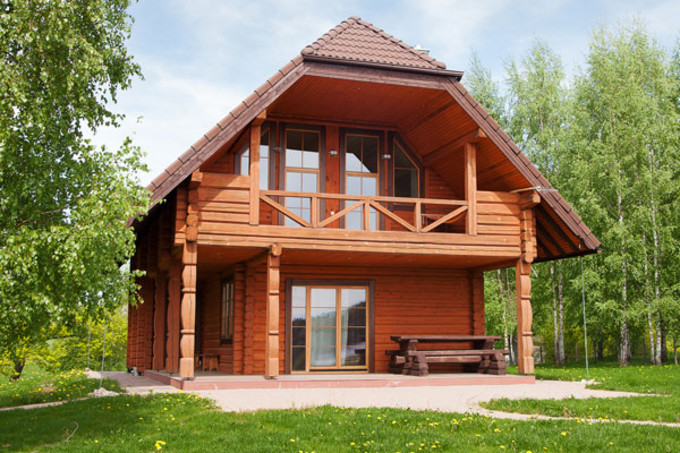 maison madrier bois simple montage duune maison bois dans les landes with maison madrier bois. Black Bedroom Furniture Sets. Home Design Ideas