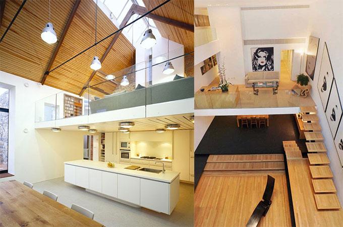 plateforme mezzanine gagner de l 39 espace avec style. Black Bedroom Furniture Sets. Home Design Ideas