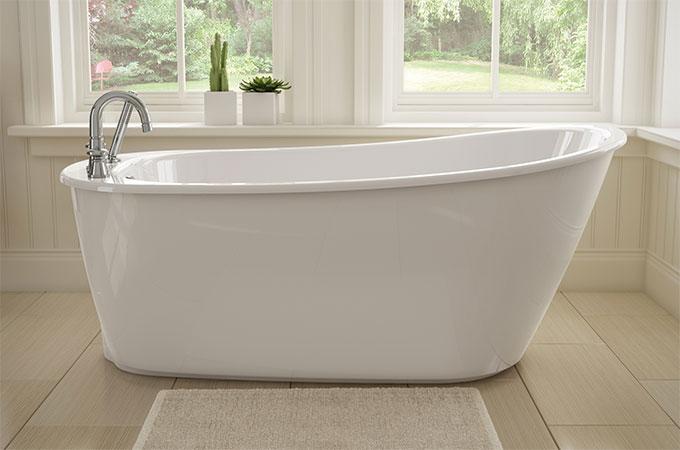 Baignoire en acrylique perfect baignoire acrylique for Repeindre une baignoire acrylique