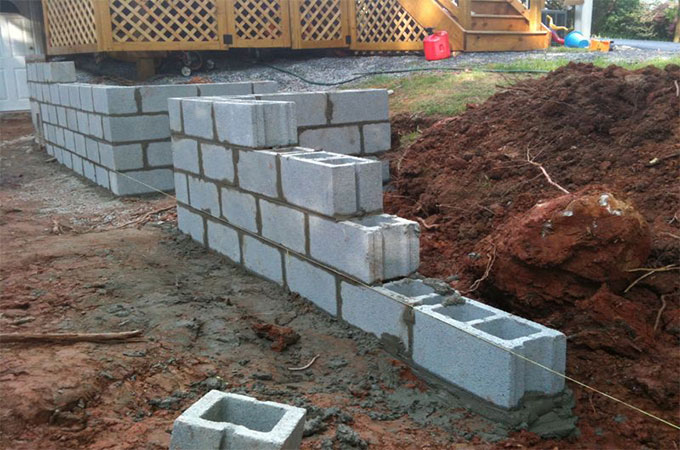 La Construction DUn Mur En Blocs De Bton