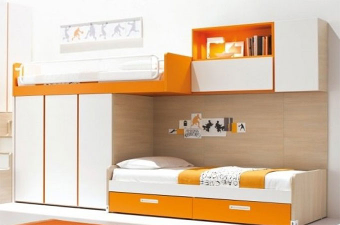 chambre mezzanine lit enfant mihauteur spark 90x200 cm ma. Black Bedroom Furniture Sets. Home Design Ideas