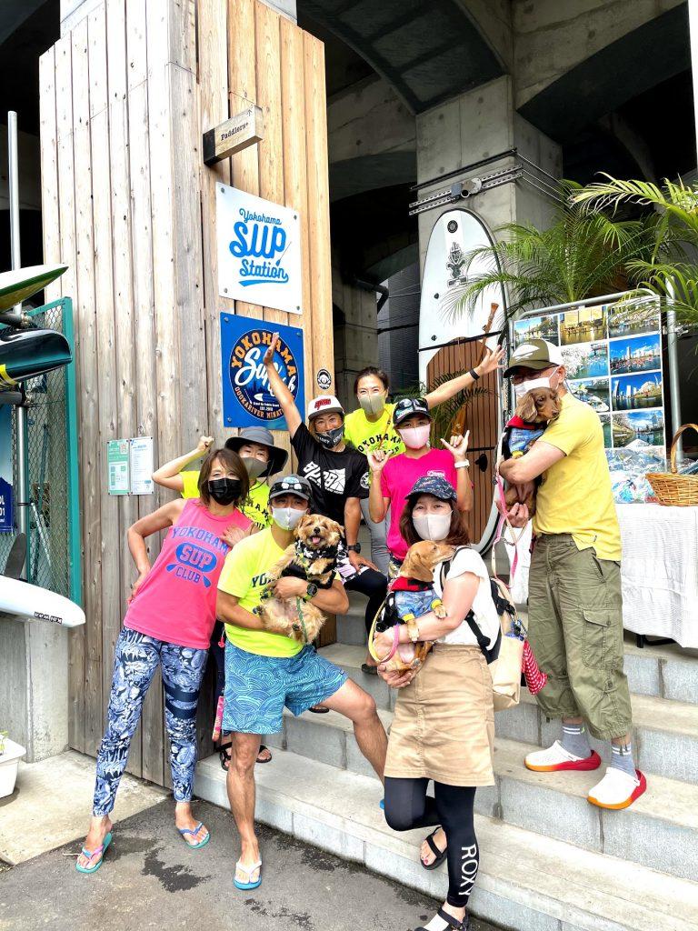 📸:広がれ!ドッグサップの輪✨ (Yokohama SUP Dogsのみなさん)