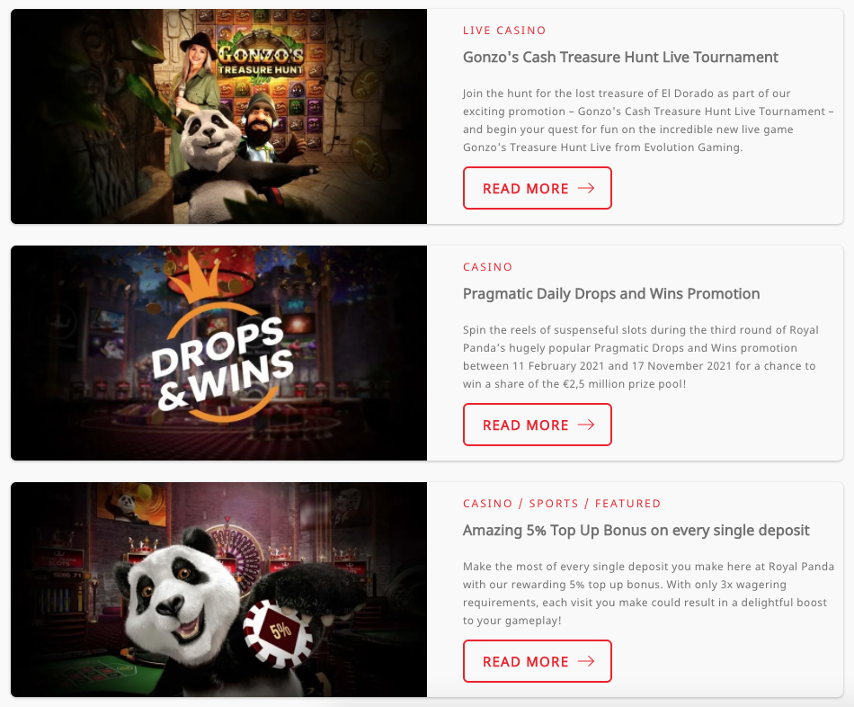 promotions royal panda
