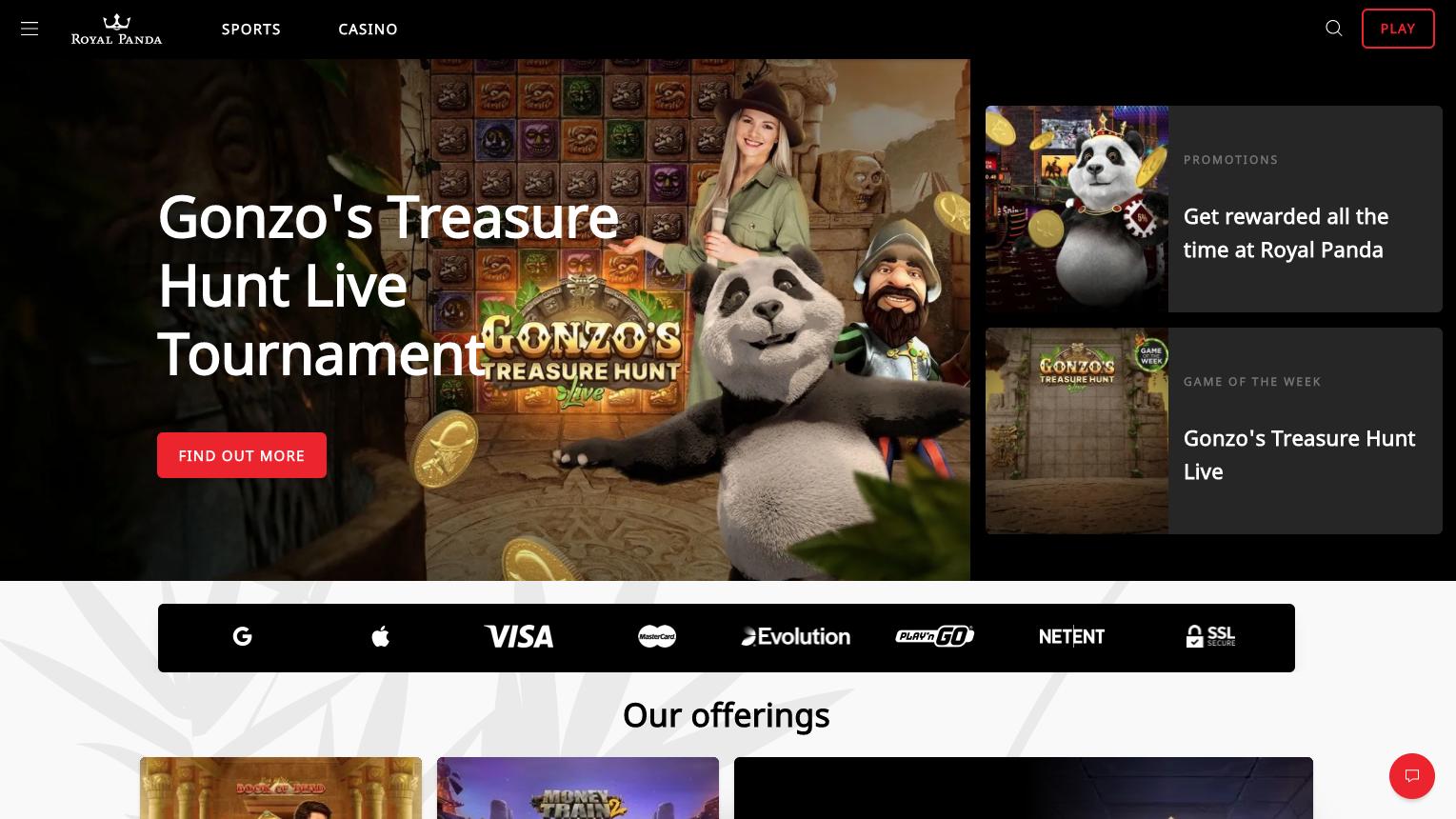 homepage royal panda
