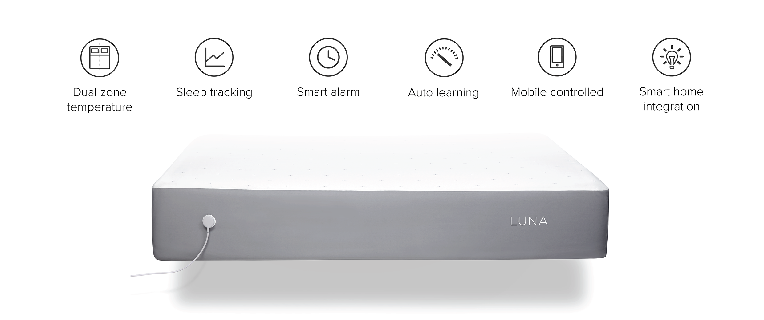 luna smart bed cover smart connected device gadget technology smartphone app data sleep monitor home bedroom