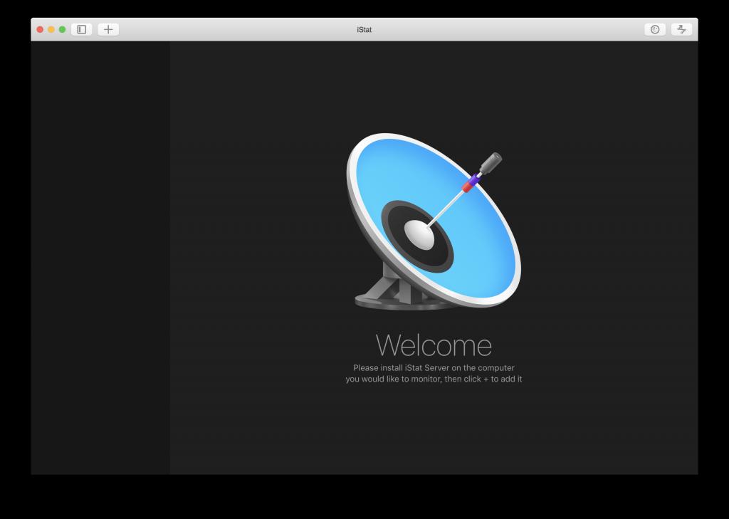 iStat Mac welcome screen