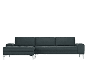 Vittorio Left Hand Facing Corner Sofa Group, Anthracite Grey