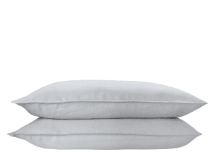 Brisa 2 x 100% Soft Washed Linen Pillowcases, Light Silver