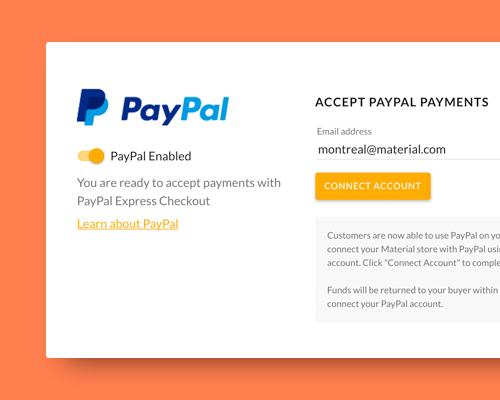 Introducing Material's PayPal Integration!