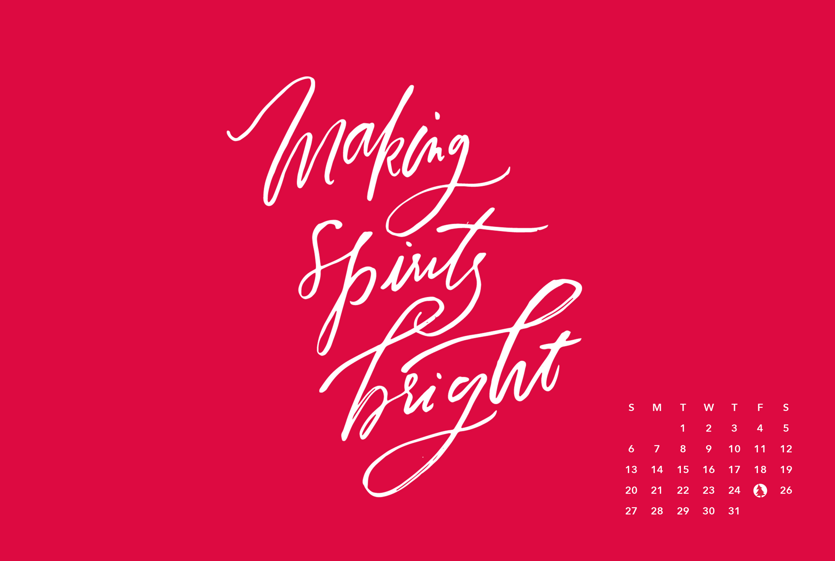 click here to download making spirits bright calendar desktop