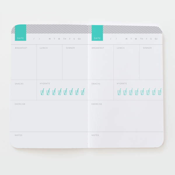 classic health fitness notebook may designs