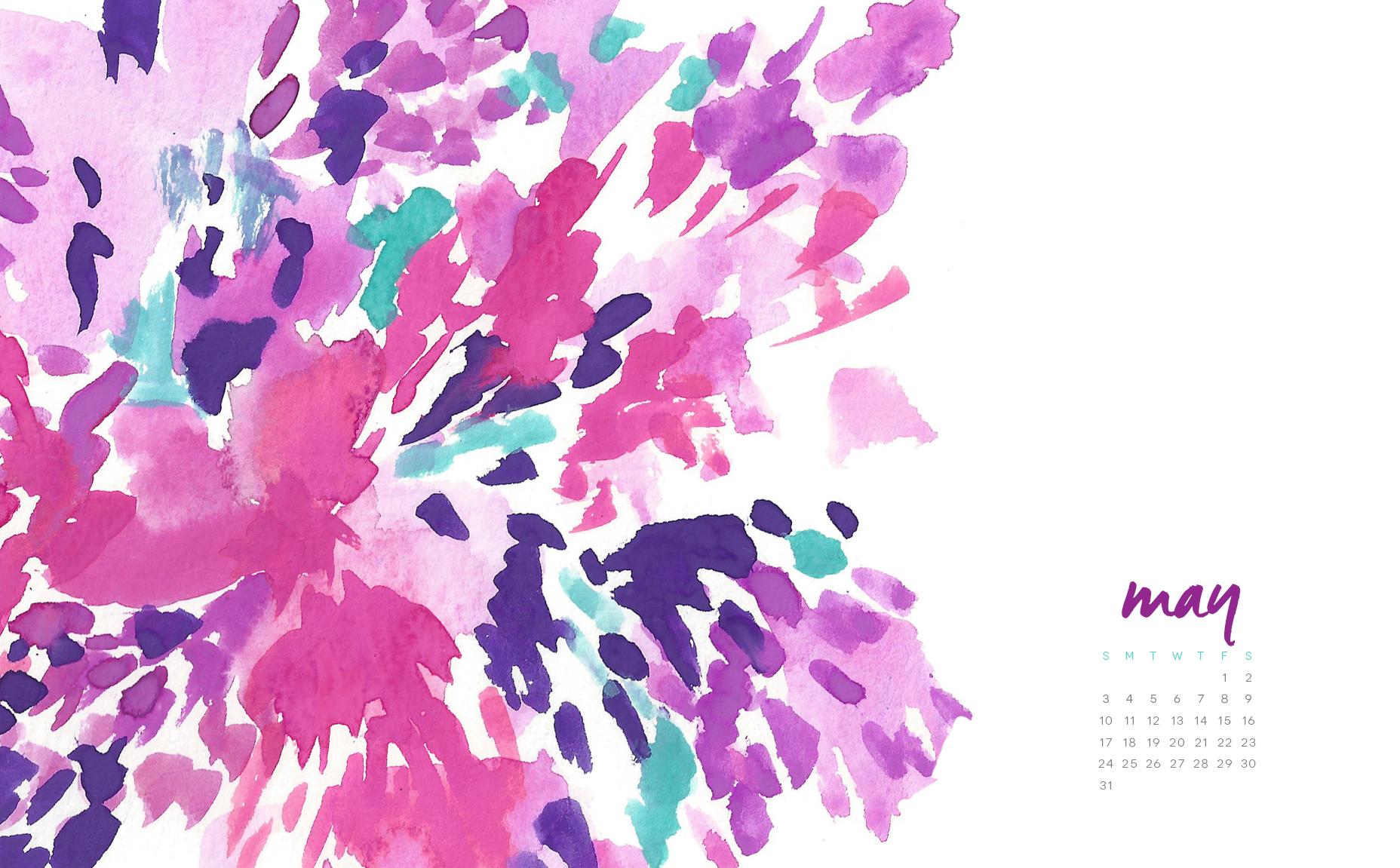 may floral splash desktop and phone wallpapers