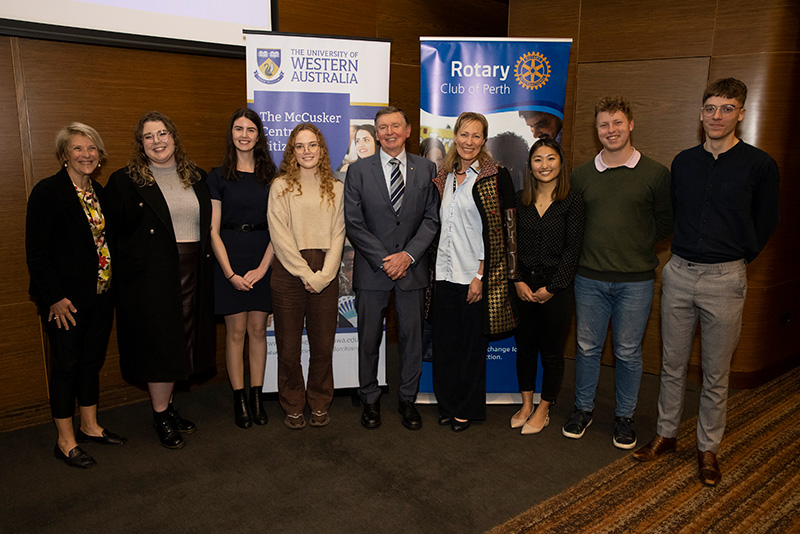 Malcolm and Tonya McCusker with McCusker Centre for Citizenship Director, Michelle Scott, and Student Advisory Committee.