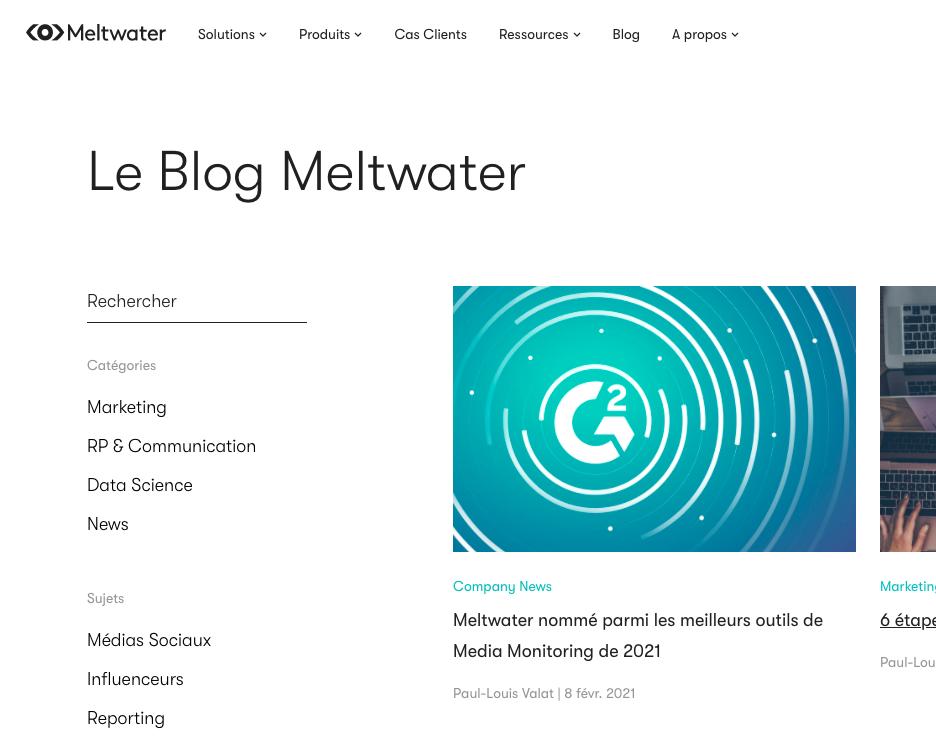 Vous pouvez voir un screenshot du blog de Meltwater.