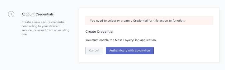 LoyaltyLion Credential