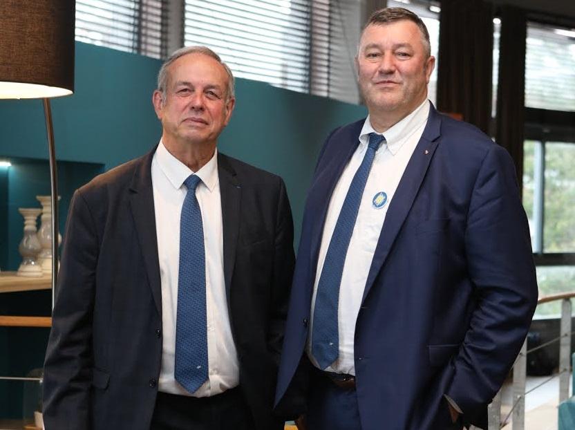 Alain Gianazza et Didier Bée ancien et nouveau présidents de la MNT
