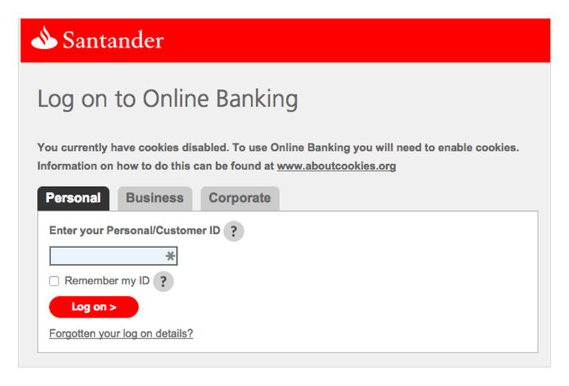 Santander Home Insurance Login