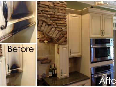 Case Study: Fire Damaged Kitchen Cabinet