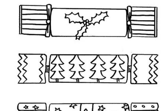 Christmas Cracker Coloring Page Sketch Coloring Page