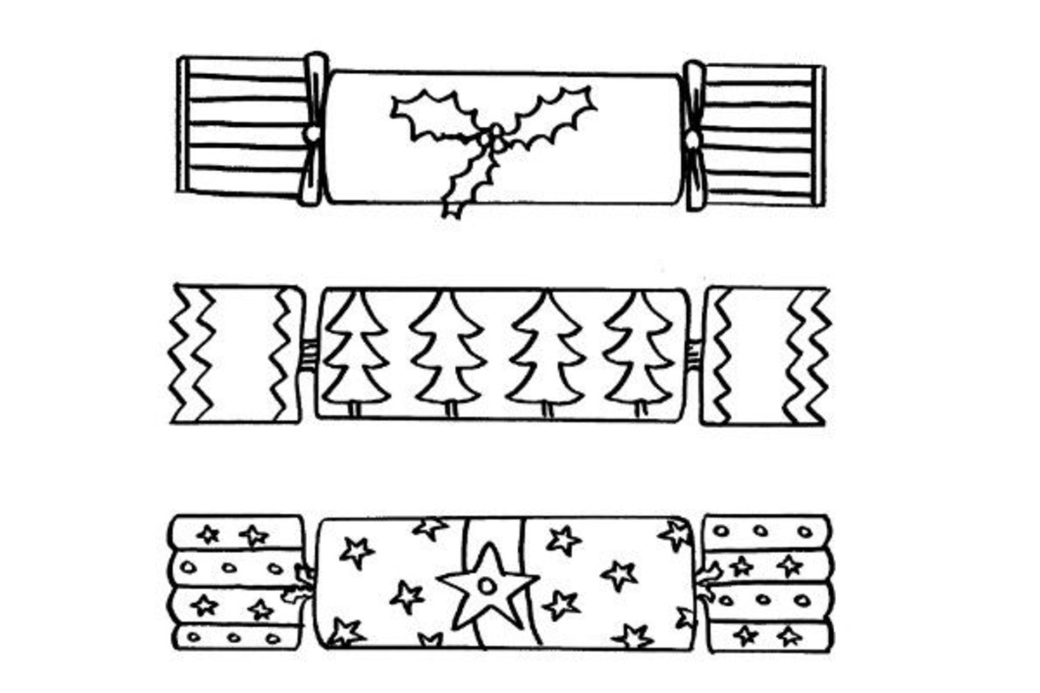 Christmas Cracker Colouring Page – Merry Christmas And Happy New ...